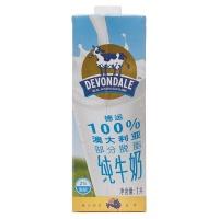 澳大利亚德运部分脱脂纯牛奶1L
