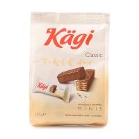 瑞士卡奇迷你牛奶巧克力威化饼干125g