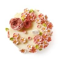 BON CAKE小桃红白豆沙蛋糕6寸