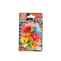 日本iwako三角雪花积木玩具橡皮
