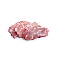 法国原装进口全程无激抗去骨猪颈肉片1000g