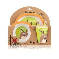德国斐仕曼儿童竹纤维餐具5件套