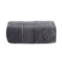 亚光纯棉深灰色面巾34x76cm