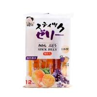 日本水果味条形果冻192g(蜜桔味+葡萄味