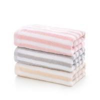 春之歌超柔面巾 粉白条纹款