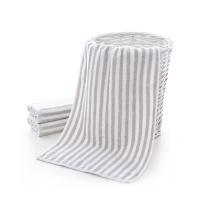 春之歌超柔面巾 灰白条纹款