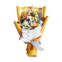 邂逅---橙色款 干花花束