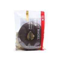 乐纯高纤维黑巧克力贝果105g