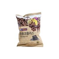 韩国进口巧克力味五角星甜甜圈76g