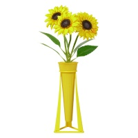 花点新思儿童DIY拼装花卉向日葵光明黄