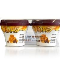 达芬奇焦糖咖啡味风味发酵乳100g×2