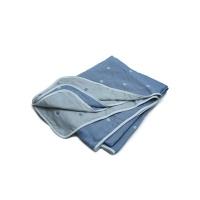 棉之选六层纱布毛巾被蓝色150*200cm