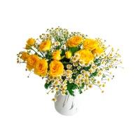 洋甘菊玫瑰组合花束