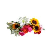 百合向日葵康乃馨混色组合花束