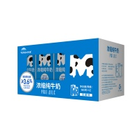 天润浓缩纯牛奶180gx12